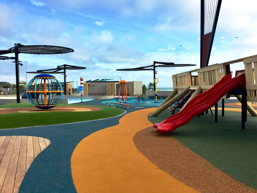 The New Brighton Playground design looking north