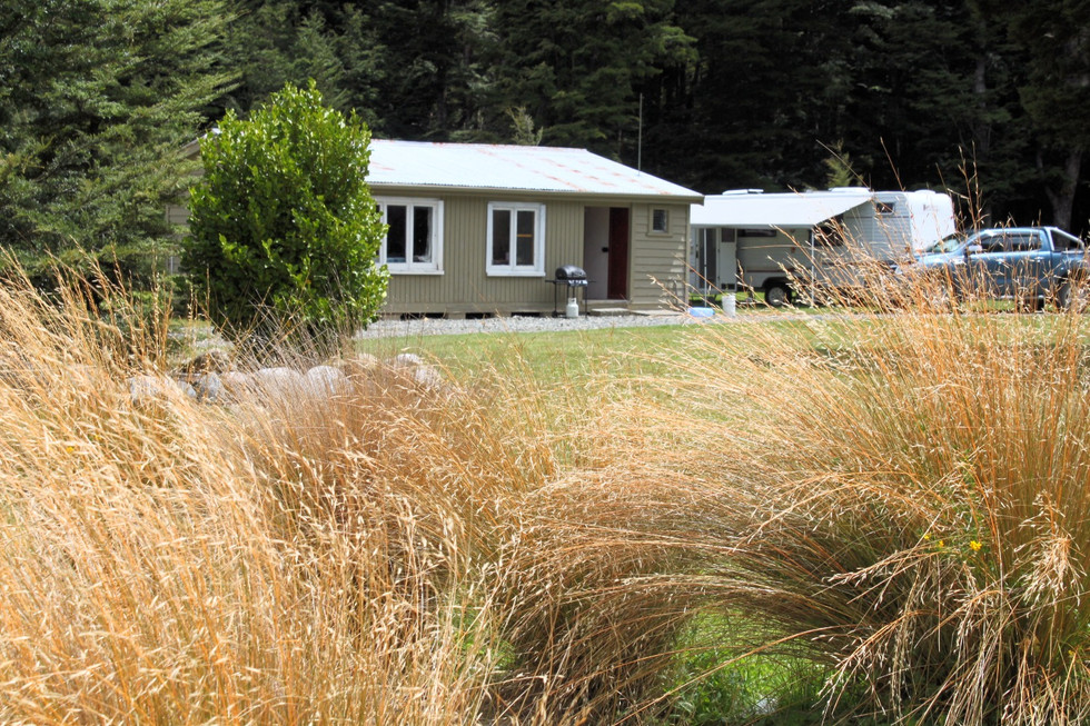 Borland Lodge, Southland, Huts and landscape planting