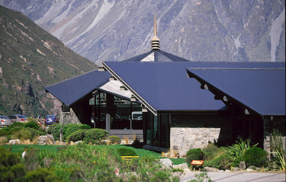 Hermitage Hotel landscape architecture at Mt Cook
