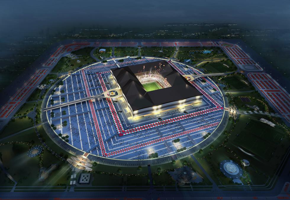 Al Bayt Stadium Aerial Perspective