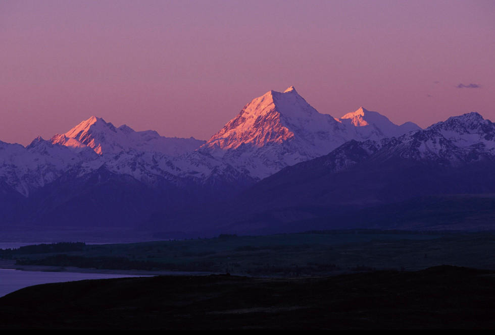 sunset over mt cook landscape