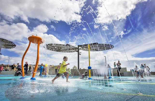 Landscape Design, of water play area at New Brighton playground