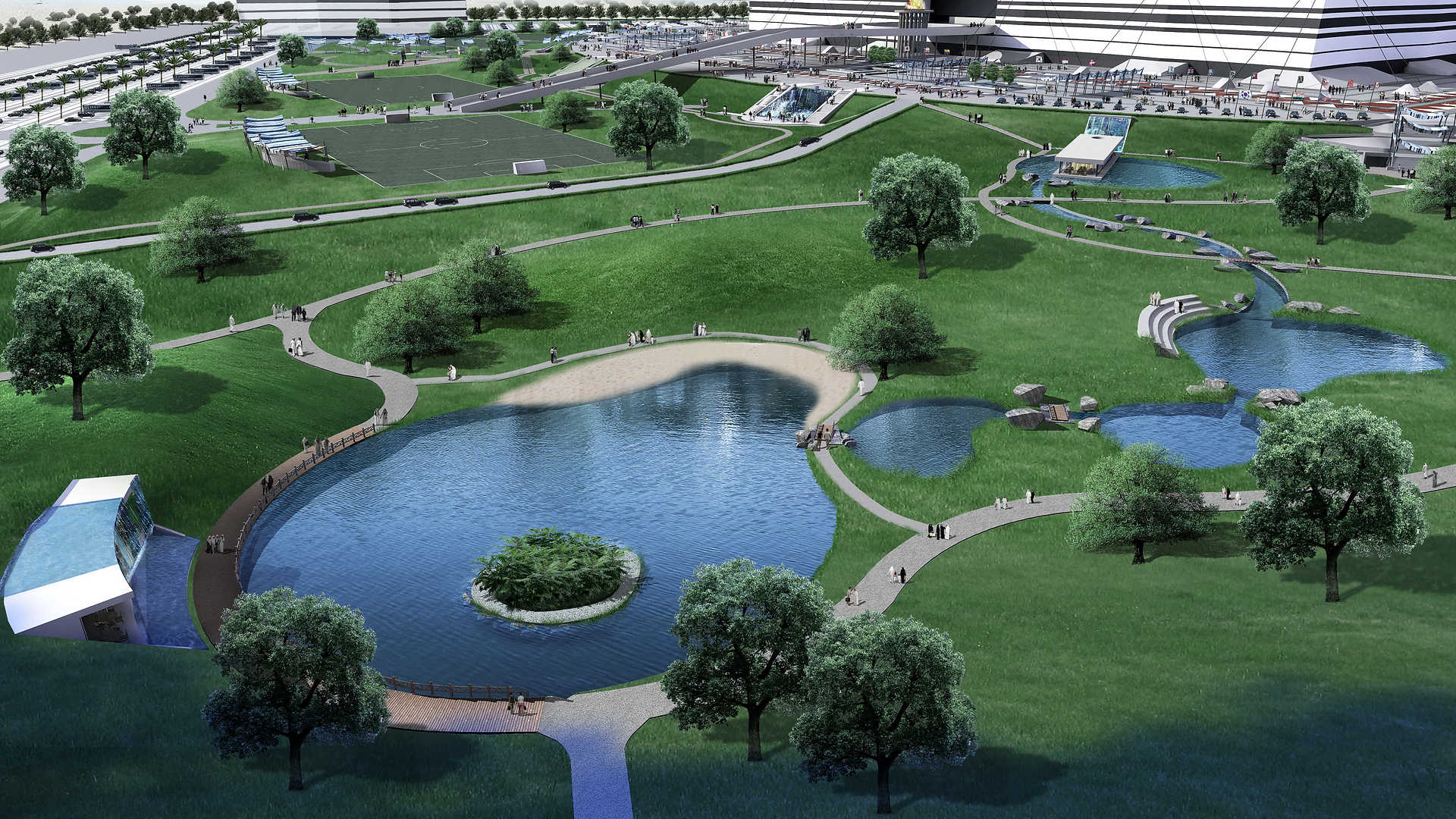 Al Bayt Stadium Landscape masterplanning