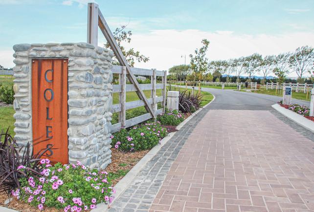 Coles subdivision landscape architecture