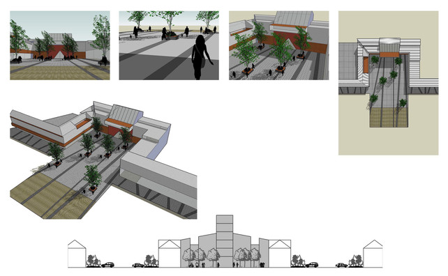 3d Visuals of landscape design for Franz Joseph alpine resort