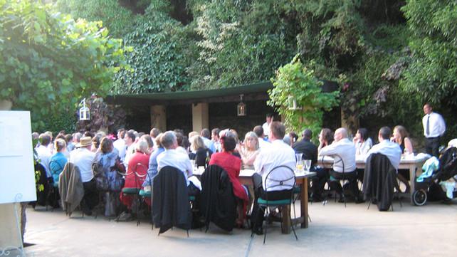 Wedding Venue courtyard landscape design at French Farm Winery, Banks Peninsula