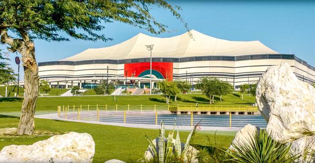 Al Bayt Stadium landscape planting design and lake