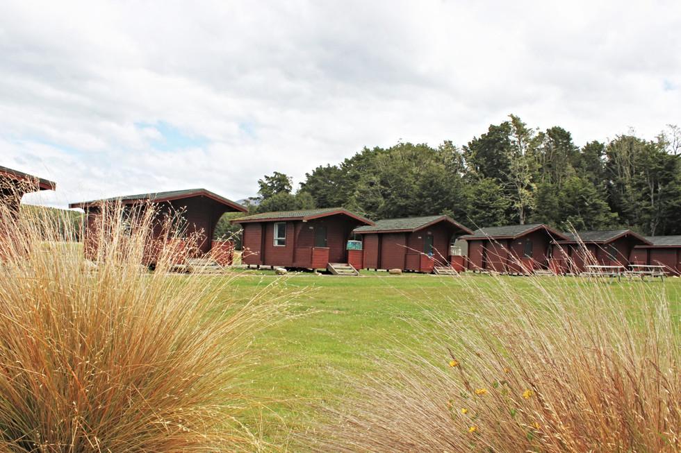Borland Lodge, Southland huts and planting design