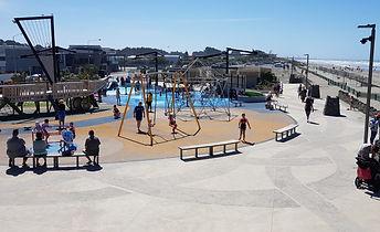 New Brighton Splash Park Concete pattern