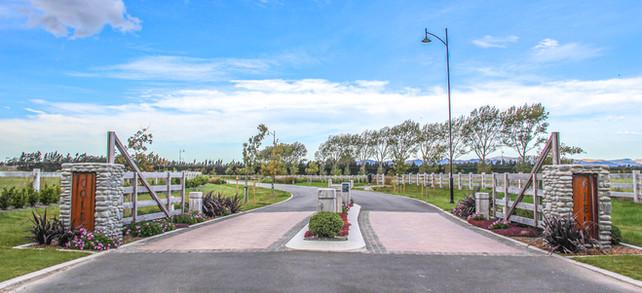 Coles subdivision entrance landscape des
