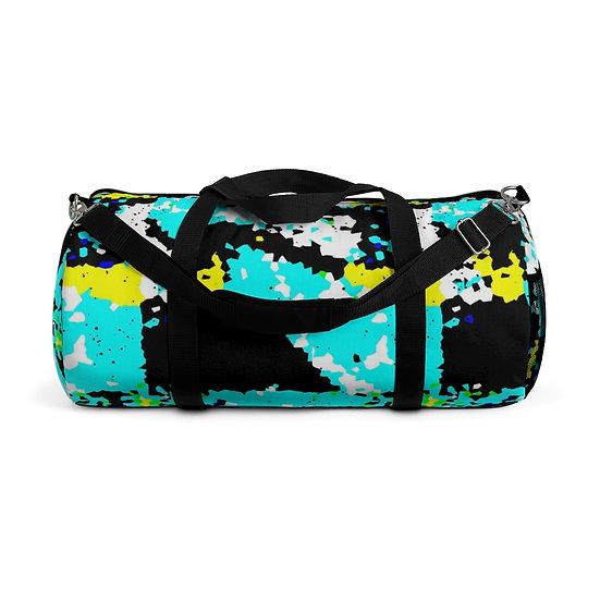 Pixelled All Blue Duffel Bag