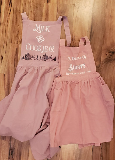 Pinafore Vintage Girls Apron-Pink