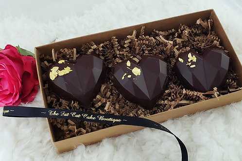 Salted Caramel Abstract Heart
