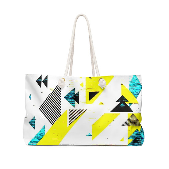 Yellow Angled Abstract Weekender Bag