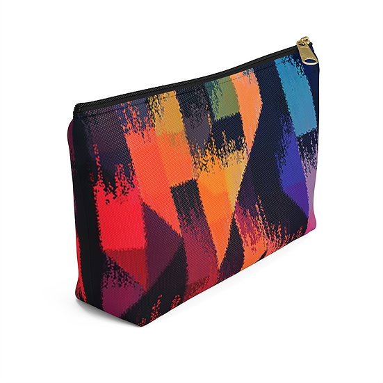 Tribal Abstract Accessory Pouch w T-bottom