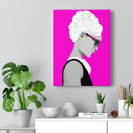 Glowing Pink Sassy Audrey Canvas Gallery Wraps