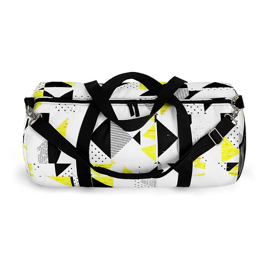 Black and Yellow Angles Duffel Bag