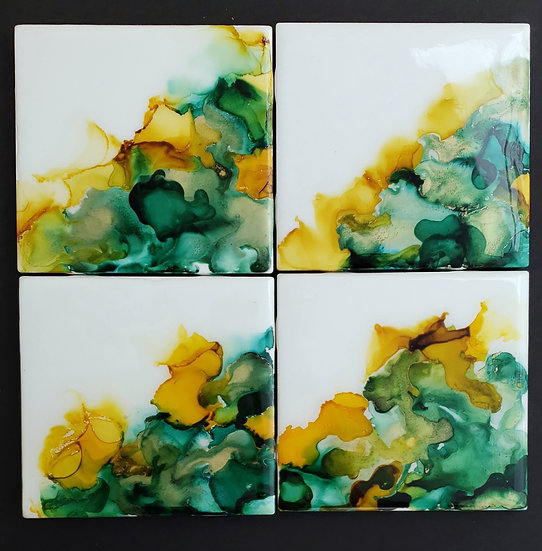 Green with Envy Ceramic Tiles Set