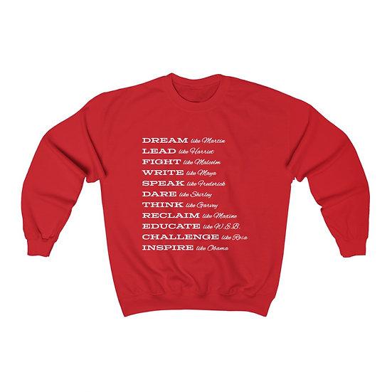 Black History Unisex Heavy Crewneck Sweatshirt