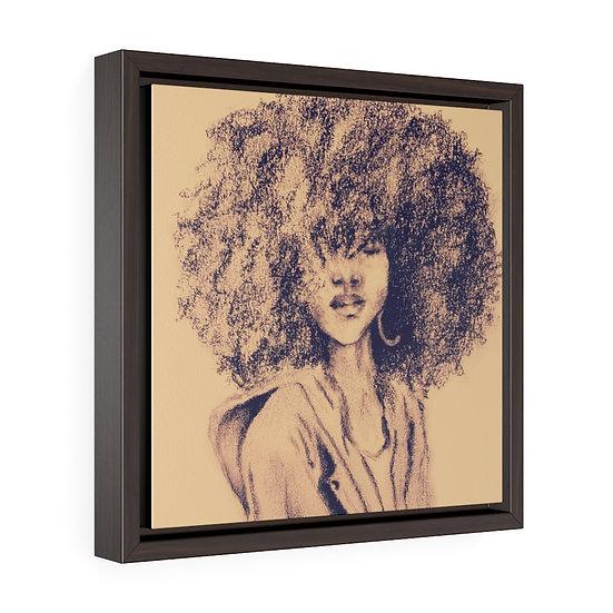 Let Her Be Her Framed  Premium Canvas