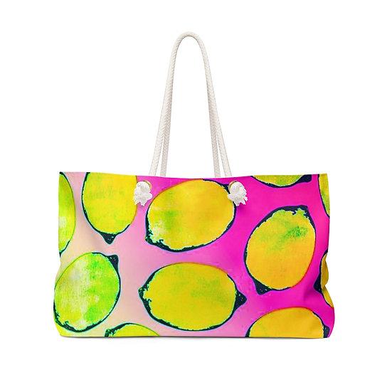 Neon Lemonade Weekender Bag
