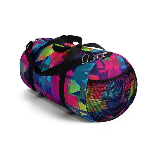 3D Vibrant Cubes Duffel Bag