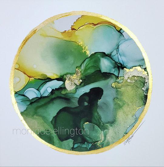 Earthtone #1 Hand Embellished Print