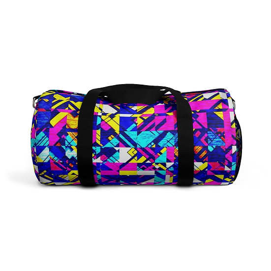 Vibrant Purple Angles Duffel Bag