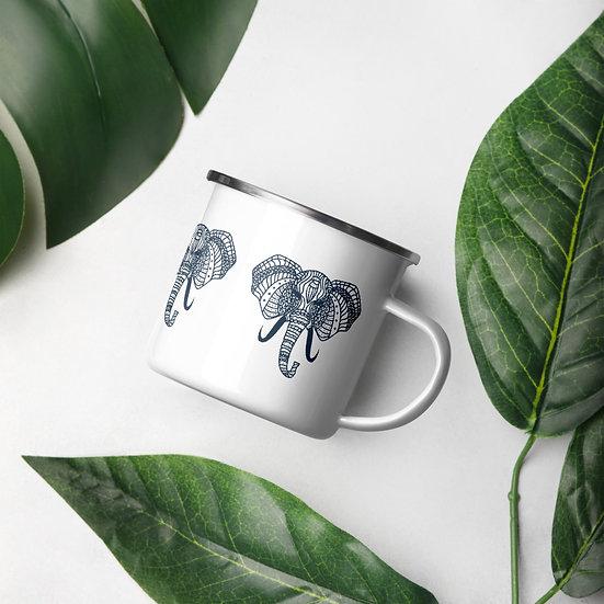 Elephant 1 Enamel Mug