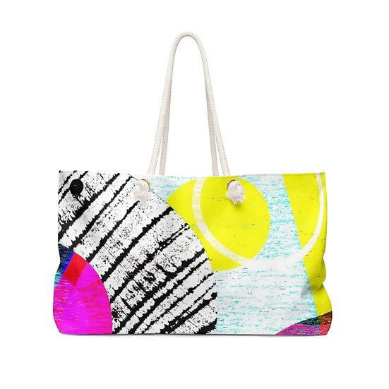 Neon Circles Weekender Bag