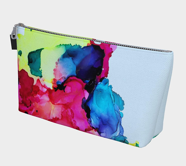 Rainbow Watercolor Accessory Bag
