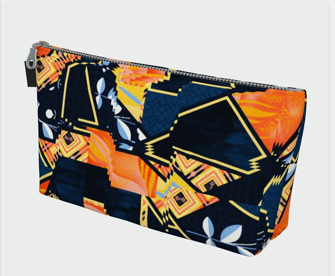 African Sunset Print Accessory Bag