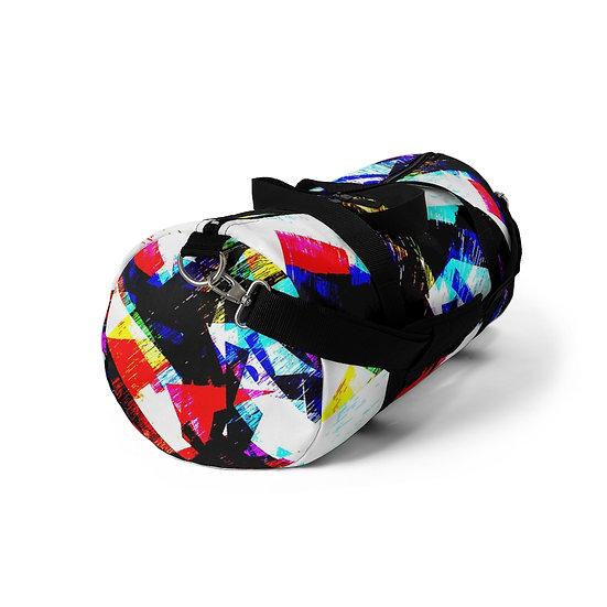 Abstract Killed the TV Star Duffel Bag