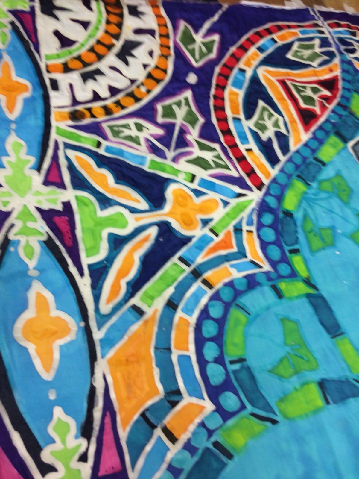 Silk banner design