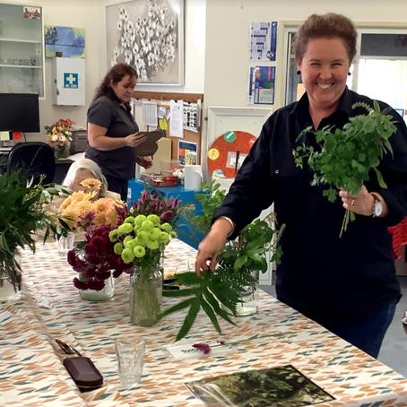 Floral arrangements at the Day Centre!