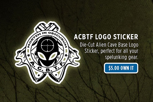 Alien Cave Base Task Force Logo Sticker