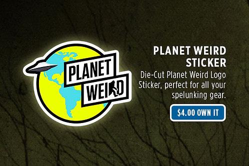 Planet Weird Logo Sticker