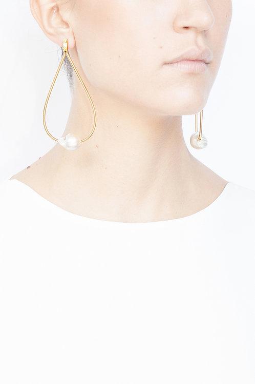 Boucles d'oreilles Anneaux de perles
