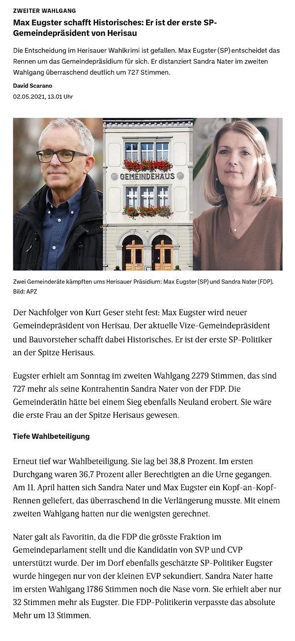 Max Eugster schafftHistorisches-Herisau