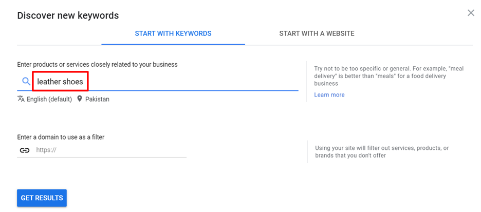 Discovery new keywords and their forecast with the Google Keyword Planner