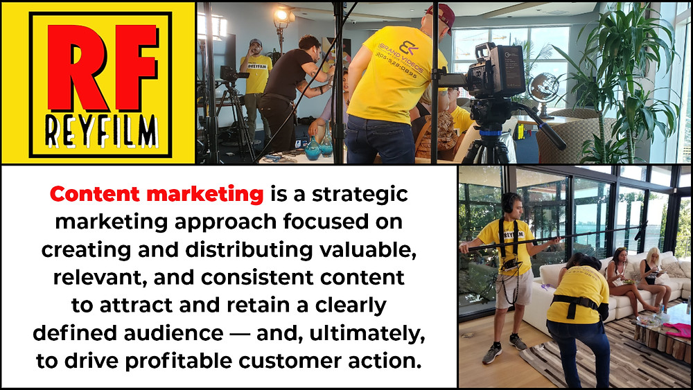 content marketing strategies. Using video as a tool for content marketing.