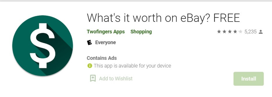 Using the What's it worth tool for exercise equipment on eBay.