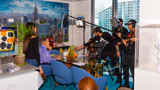 Video production on location Miami