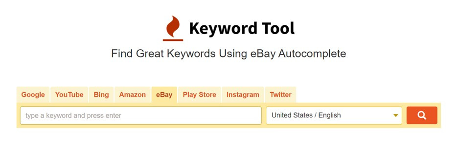 Using the Keyword Tool to find exercise key words for eBay.