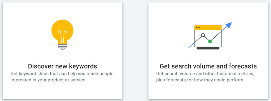 Using the Google Keyword Planner to discover new keywords