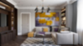 Chick and modern miami living room. Staged home for real estate walk through.
