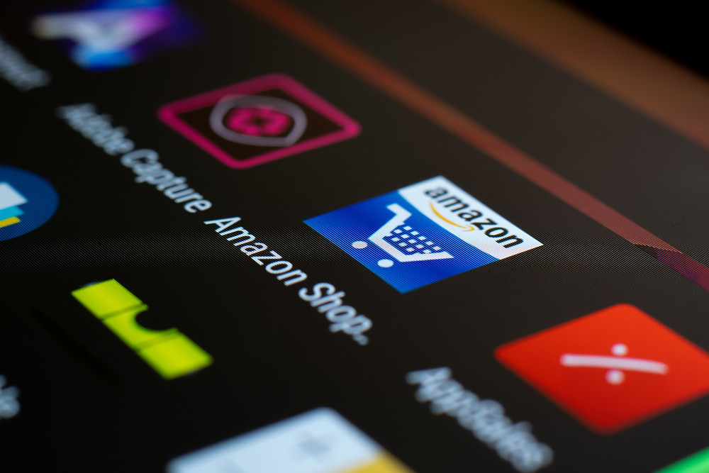 Amazon shop app en un movil