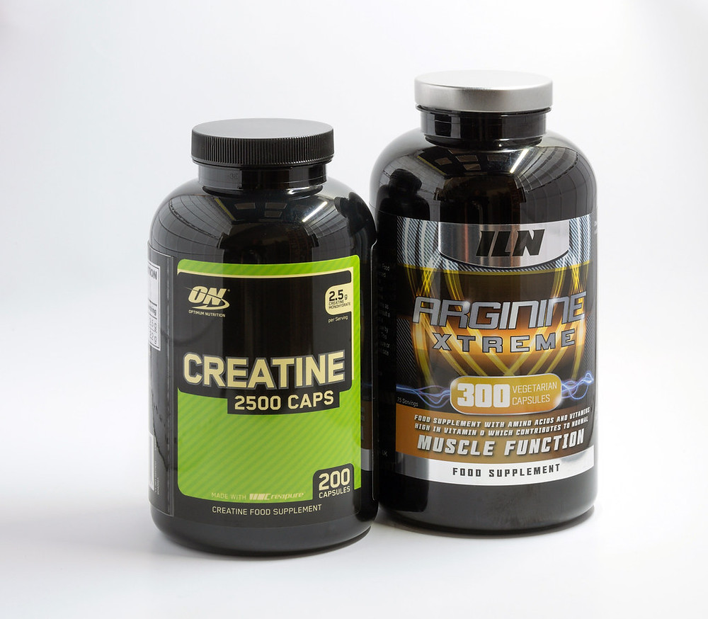Sports supplements on white background for ecommerce selling