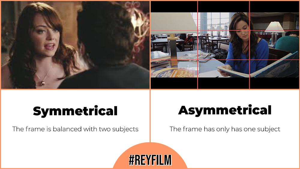 film techniques, symmetrical vs asymmetrical