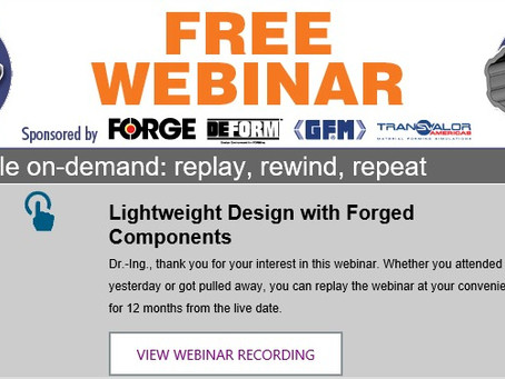 "WebSeminar ""Lightweight Forging"""